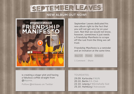 September Leaves - Friendship Manifesto